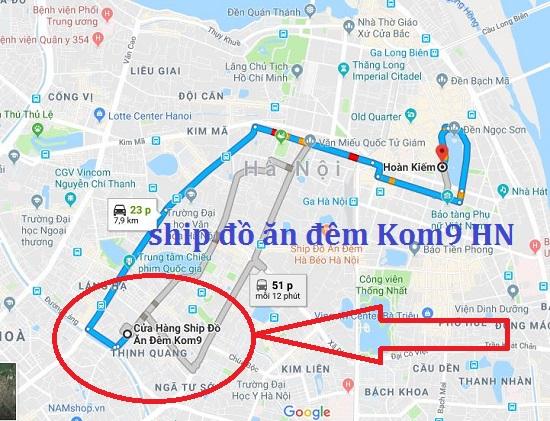 Cửa hàng ship đồ ăn đêm quận Hoàn Kiếm