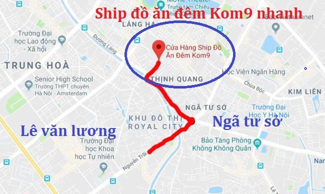 Kom9 địa chỉ ship đồ ăn đêm Thanh Xuân uy tín, tin cậy