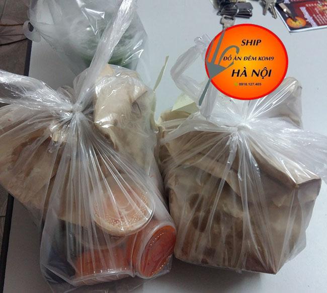 ship đồ ăn đêm kom9 bọc gói đồ ăn cẩn thận