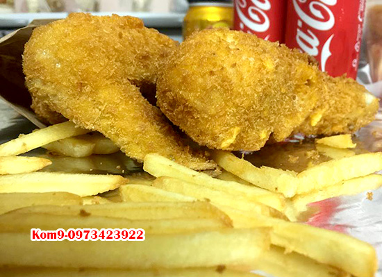 Combo đùi cánh KFC ship đêm