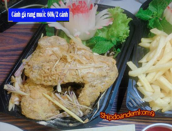 Món nhậu đêm ngon cánh gà rang muối đặc biệt