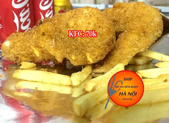 Giao đồ ăn khuya KFC nhanh nhất Hà Nội