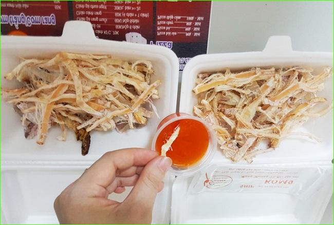 Mực nướng - Món nhậu đêm Hà Nội ngon