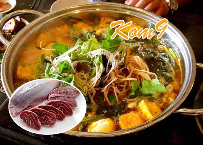 Lẩu riêu cua bắp bò Thái Hà Ngon