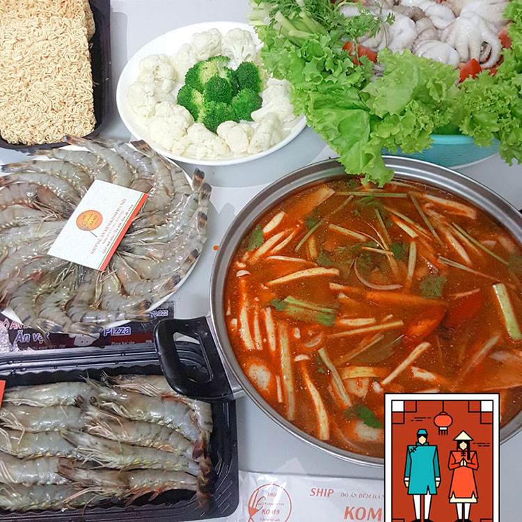 Món nhậu đơn giản tại nhà - lẩu thái Tôm Yum ngon
